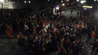 A look from overhead as Clemson scores again
