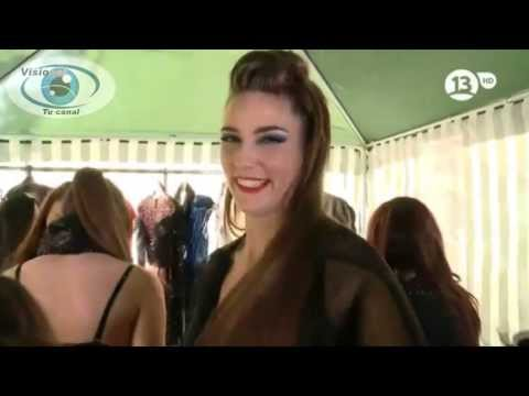 Infartante colaless de Romina Lancellotti candidata Miss Chile 2013. Canal 13