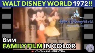 Walt Disney World Magic Kingdom 1972 8mm Family Film! Time Code to ID Characters & Locations