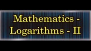GURUKULAM || Mathematics - Logarithms (Mains) - P2  || LIVE With R.L.N. Murthy