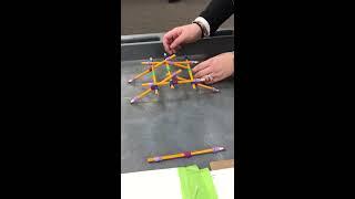 She built the da Vinci bridge in 1 minute!