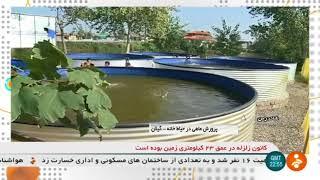 Iran Fish farming pool in home yard, Shanderman district, Gilan پرورش ماهي در حياط خانه شاندرمن