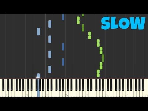 Chopin - Spring Waltz [SLOW Piano Tutorial] [50% speed] (SynthesiaSheet Music)