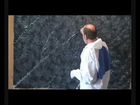 pintura decorativa imitación mármol negro éfect mármol decorative paint