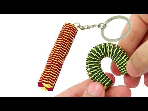 Origami Keychain Tail Lizard (braiding) - Origami easy tutorial