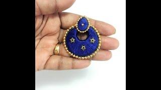 How to make Silk Thread Chandbali earrings/Chandbali earrings tutorial