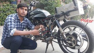 Petrol and Electric Hybrid Motorcycle Part -2 || Creative Science