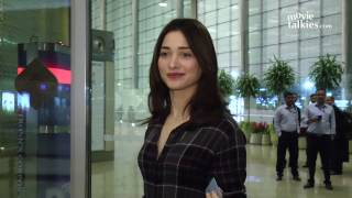 Tamannaah Bhatia Spotted At Airport Going To Shoot For Baahubali 2