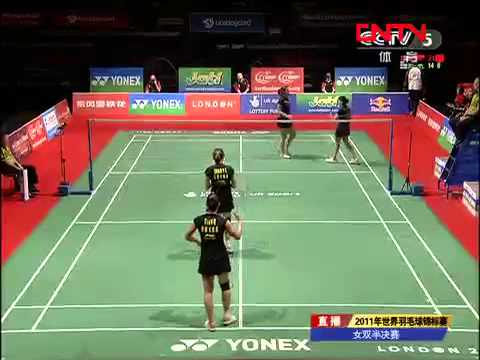 [2011 World Championships BXD-F] Tian Qing/Zhao Yun Lei vs Jwala Gutta/Ashwini Ponnappa [6]