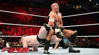 Cesaro vs. Sheamus (& Wayne Rooney vs. Barrett): Raw – 9. November 2015
