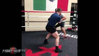 CANELO KILLS UPPERCUT BAG LOOKING RIPPED FOR GOLOVKIN FIGHT