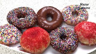Donuts Recipe Easy & Simple Sprinkle  Donuts At Home طريقه سهل وآسان  دونتس يا دونات