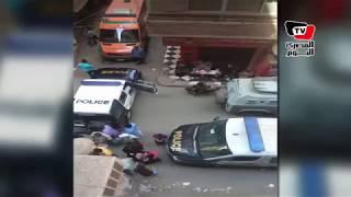 اللقطات الأولي من موقع مداهمة «الأمن» لوكر إرهابي بـ«أرض اللواء»