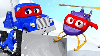 The SNOW PLOW - Carl the Super Truck in Car City   Children Cartoons