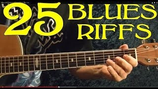25 Blues Riffs - Guitar Lesson
