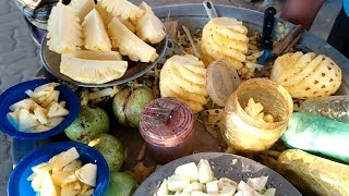 Pineapple Slicing & Cutting*Road Side Healthy Street Food*Bengali Street Food Anarosh-Street Food BD