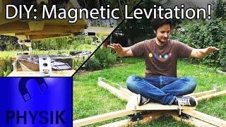 Can I levitate on Neodymium magnets? Magnetic levitation!