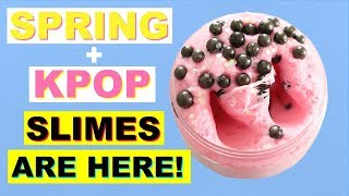 KPOP SLIMES🔥 and LIMITED EDITION SPRING SLIMES💕 Are In The Slime Shop! - Peachybbies Restock Jan.