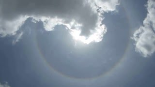 Halo around sun seen from Kathmandu