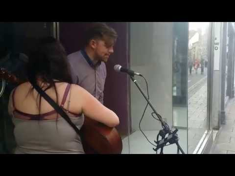 Random Guy Joins In with Busker AMAZING
