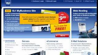 Unlock a Domain Name from 1 and 1