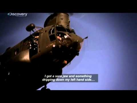 Chinook Pilot takes a headshot then flies the thing home