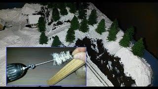 Diorama - Making Miniature Pine Trees the Easy Way