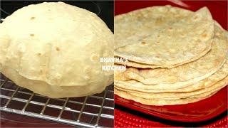 Homemade Soft Fluffy Roti / Chapati / Phulka Video Recipe   Bhavna