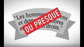 Droits de l'Homme, offre soumise à conditions !