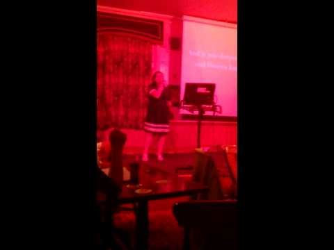 Anna singing river deep on karaoke. Xxx