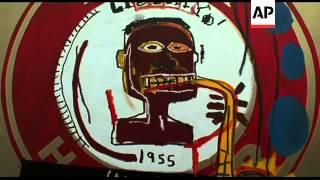 Preview of the Basquiat retrospective exhibition in Paris