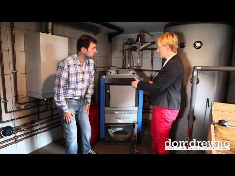 081. Piec kocioł gazujący drewno efektywna metoda ogrzewania domu lub warsztatu