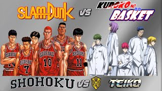 SHOHOKU vs TEIKO | 1ª Parte | Crossover Slam Dunk vs Kuroko no Basket | NBA 2k14