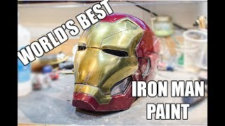 WORLD'S BEST way to paint an IRON MAN helmet!