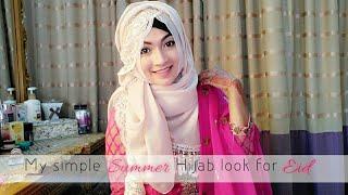 Simple Summer Hijab look for Eid | Pari ZaaD ❤