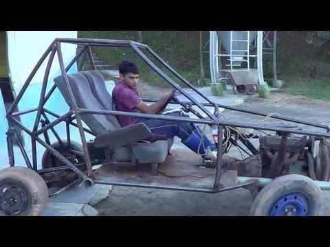 Gaiola com motor de Chevette 1.4