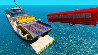 Epic High Speed Car Jumps #6 BeamNG drive