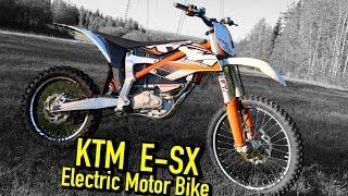 KTM SX-E Freeride electric motorbike Test ride