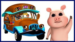 Wheels on the Bus | Brown Bus Song | Nursery Rhymes Compilation for Children