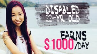 Inspiring Story: Disabled Girl earns $1,000/day on Facebook