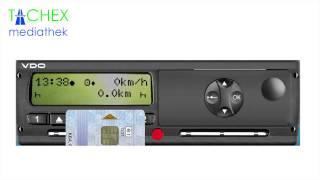 Einstellungen Digitaler Tachograph zu Schichtbeginn bei VDO 1.4 - 2.x