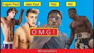 Jake Paul & Logan Paul vs KSI & Deji #DramaAlert ITS HAPPENING!!!!!