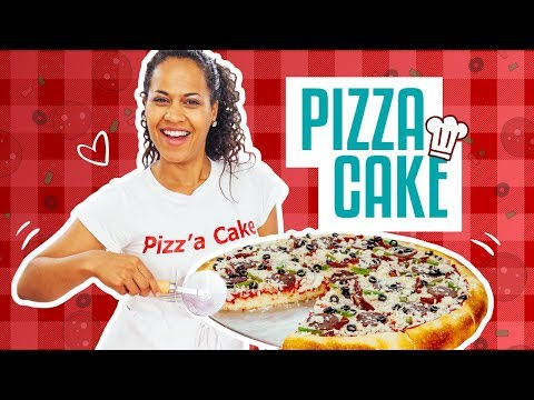 How To Make A PIZZA CAKE!  Buttercream sauce, candy toppings and brûléed fondant crust!