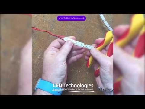 How to cut, connect & solder LED tape