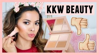 KKW Beauty Powder Contour & Highlight Kit | My HONEST First Impressions Review + Swatches!