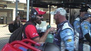 Behind the scenes: 18/78 crews argue after Indy crash