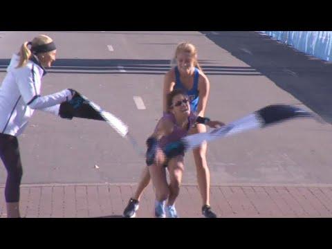 Xxx Mp4 Stranger Carries Woman To Marathon Finish Line 3gp Sex