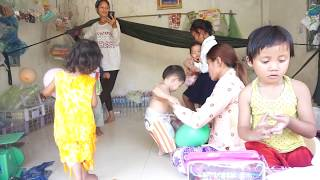 Cute baby playing together at home with mother Very Very Funny Comedy