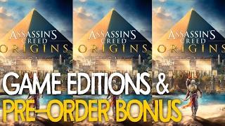Assassins Creed Origins : Pre-Order Bonus & Game Editions (PS4 |  XBOX1 | PC)