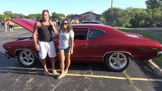 1969 Chevelle SS - Watch as it throws pavement underneath as it leaves the car show